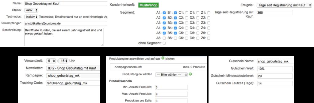 customa-anstoßketten-mailings-bearbeiten